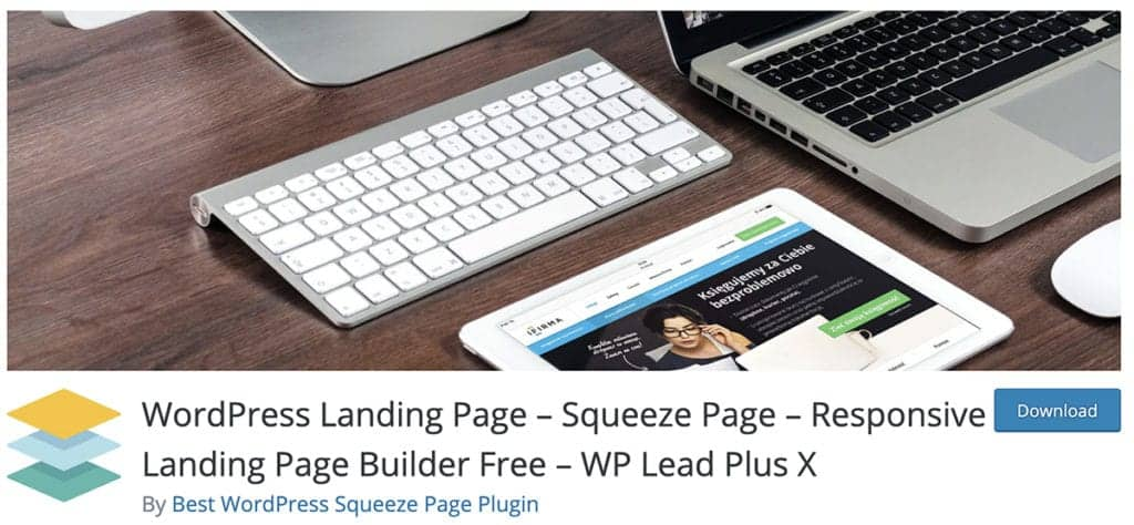 WordPress Landing Page – Squeeze Page – Responsive Landing Page Builder Free – WP Lead Plus X