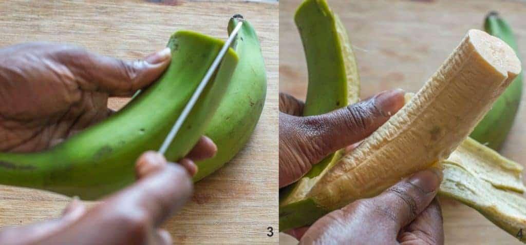 Steps 3-4 how to make Dominican mangu