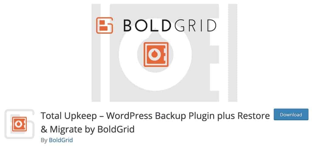 Total Upkeep – WordPress Backup Plugin plus Restore & Migrate