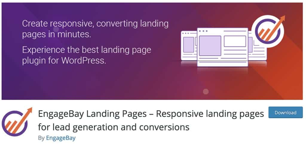 EngageBay Landing Pages – Responsive landing pages for lead generation and conversions
