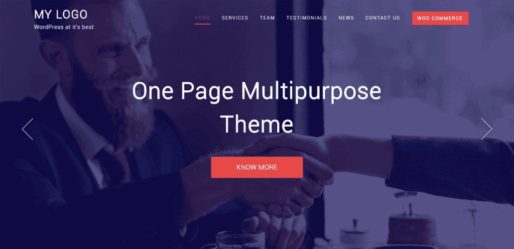 Best Free One Page WordPress Themes