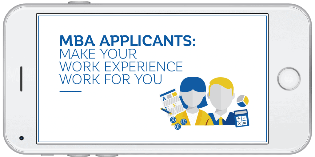 MBA Work Experience Guide