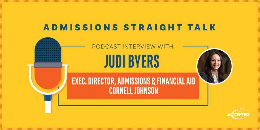 Interview with Cornell Johnson's Exec Director of Admissions and Financial Aid