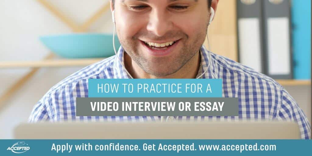 How to practice for a video interview or essay