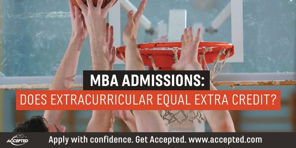 MBA admissions does extracurricular equal extra credit