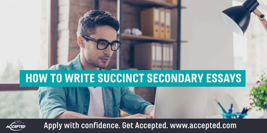 How to write succinct secondary essays