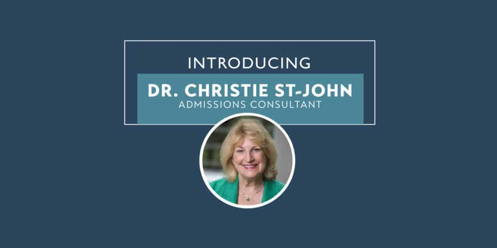 Welcome to Team Accepted, Dr. Christie St-John!