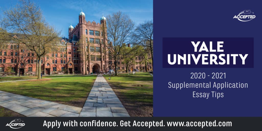 Yale University supplemental application essay tips