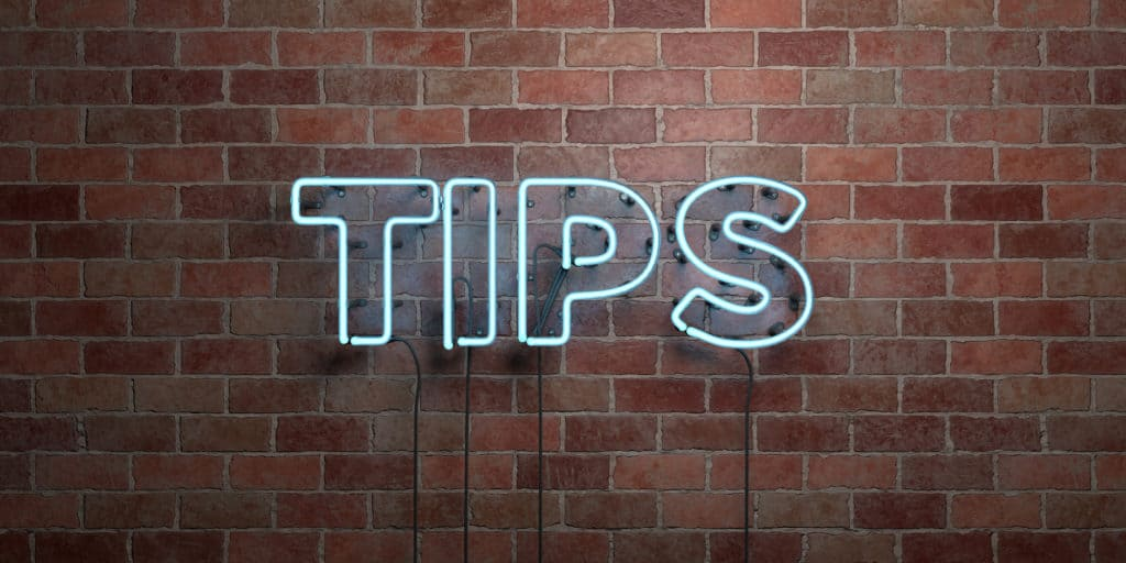 Neon Tips Sign