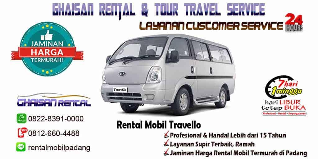 sewa rental mobil travello di Padang