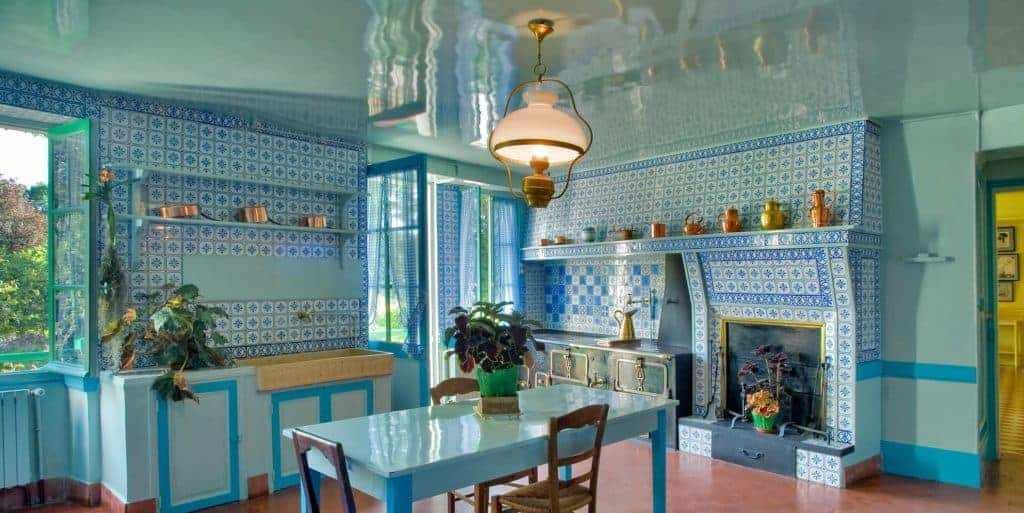 Claude Monet's kitchen in home in Giverny, France