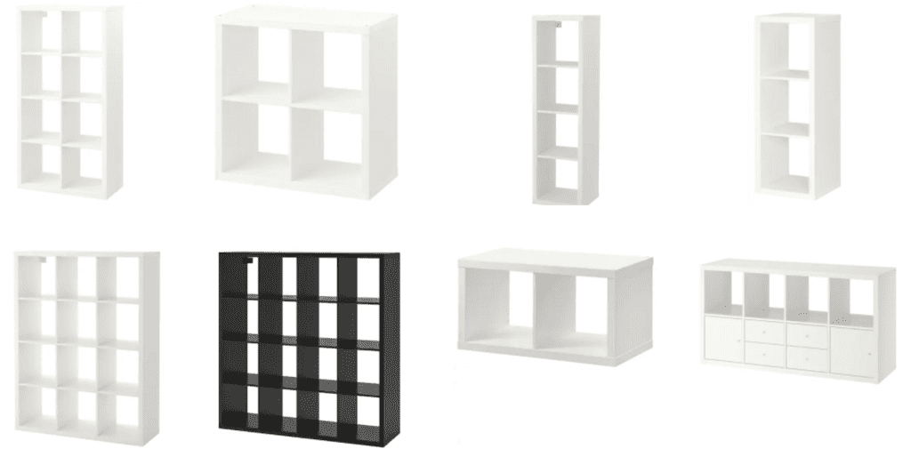 record storage furniute ikea kallax examples