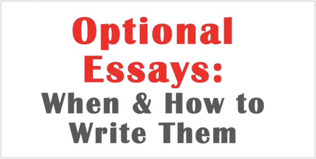 optional-essays-when-how-to-write
