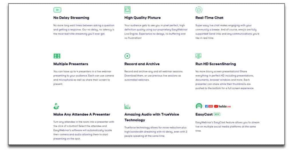 easywebinar live webinar features