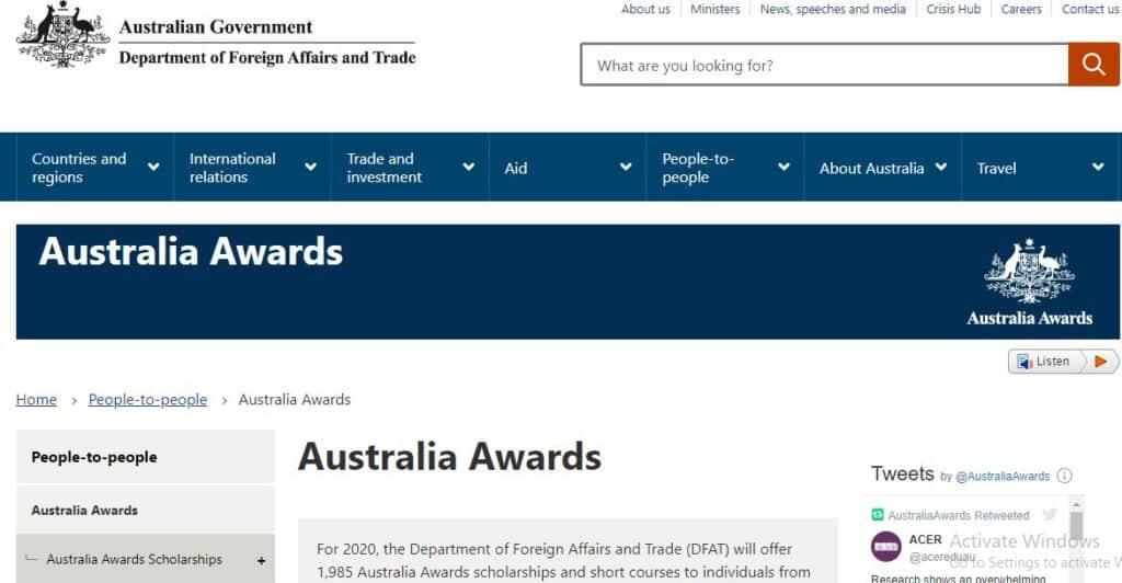 Australia Awards Scholarship - Best Scholarship