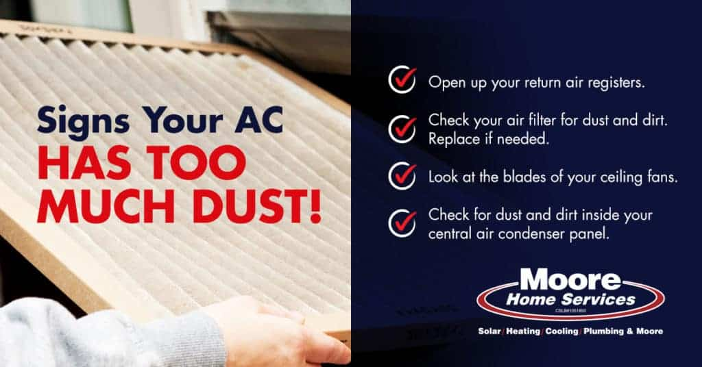 Signs Your AC Has Too Much Dust