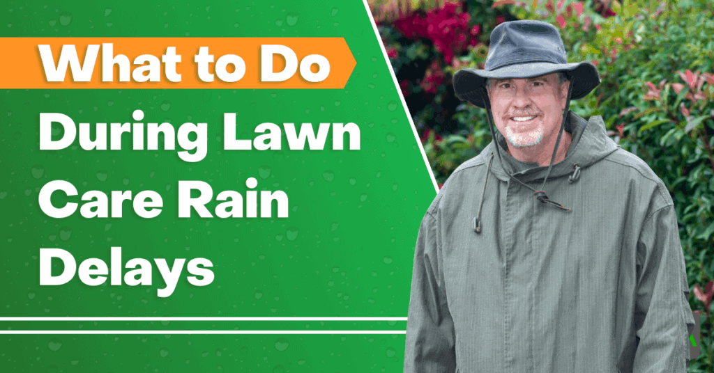 what to do during lawn care rain delays