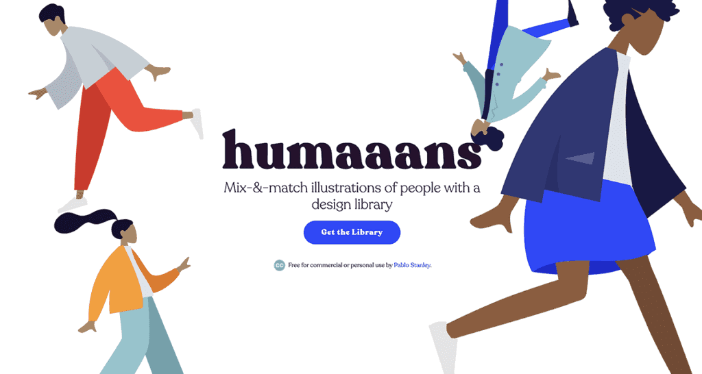 Humaaans - Mix-&-match illustrations of people with a design library
