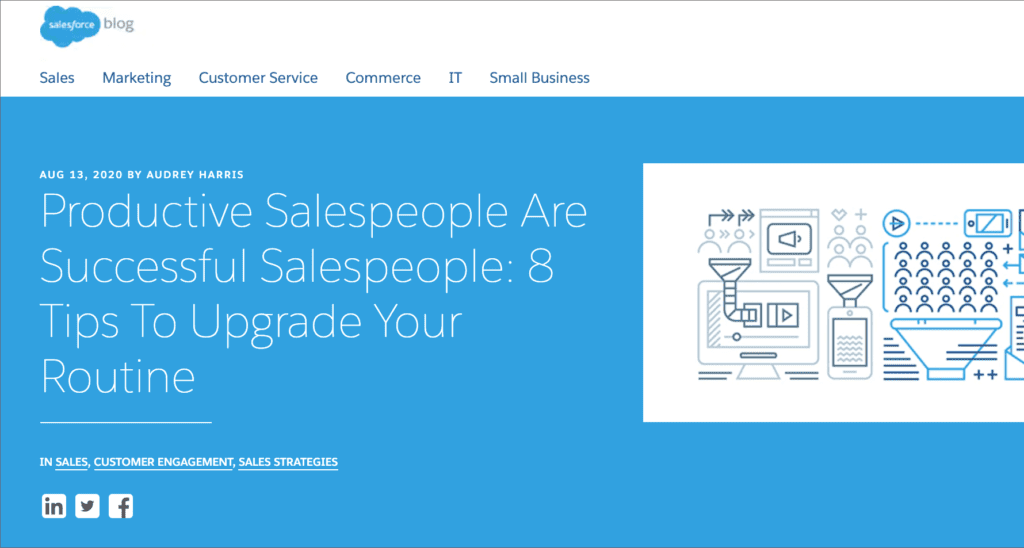 Salesforce blog post on sales productivity