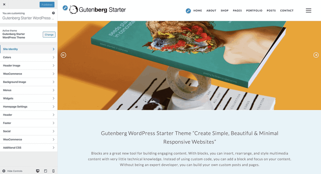 WordPress Gutenberg Customize Options
