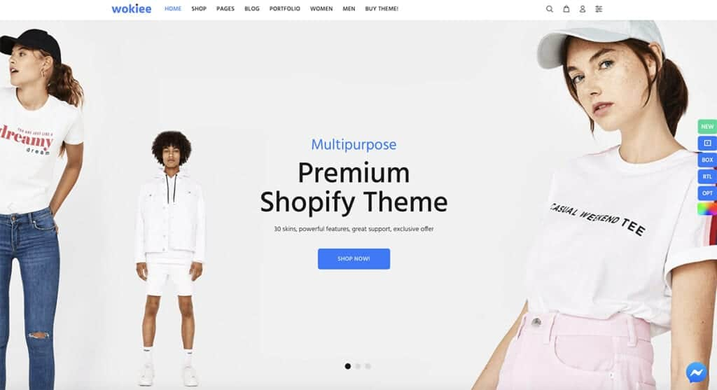 wokiee Shopify best theme
