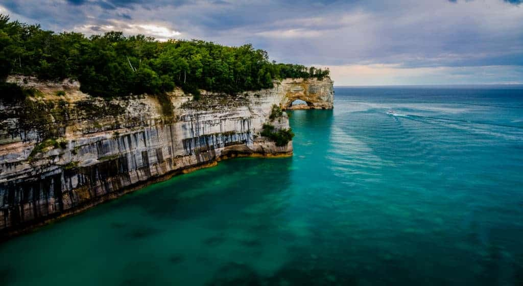 Low Arch at Pictured Rocks National Lakeshore.
