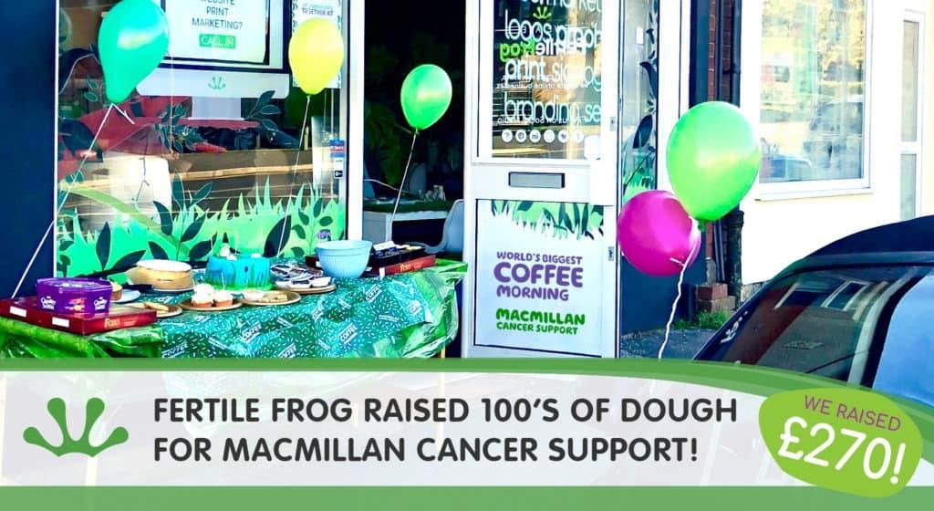 Fertile Frog raised hundreds of dough for macmillan cancer support