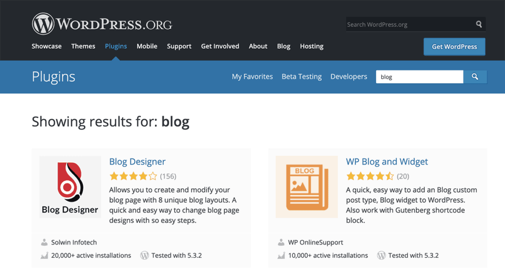 WordPress.org Plugin Directory for blog