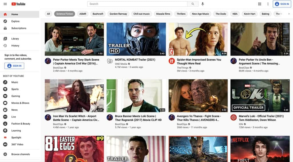 YouTube the biggest free video hosting site