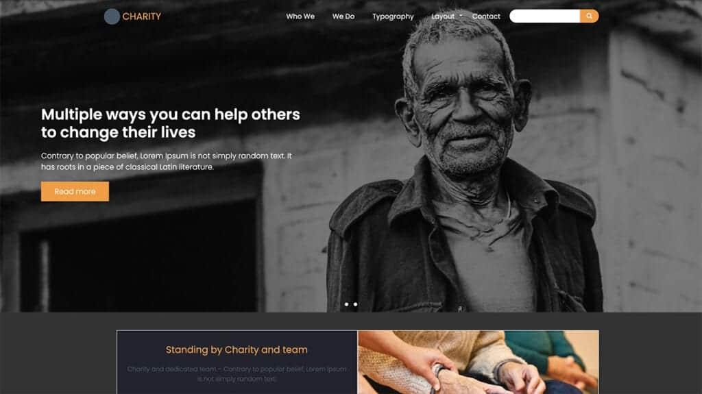 charity free drupal theme