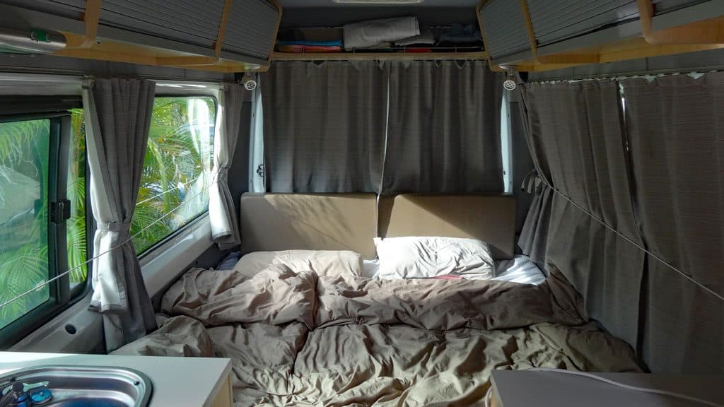 Doppelbett im Maui Ultima Camper