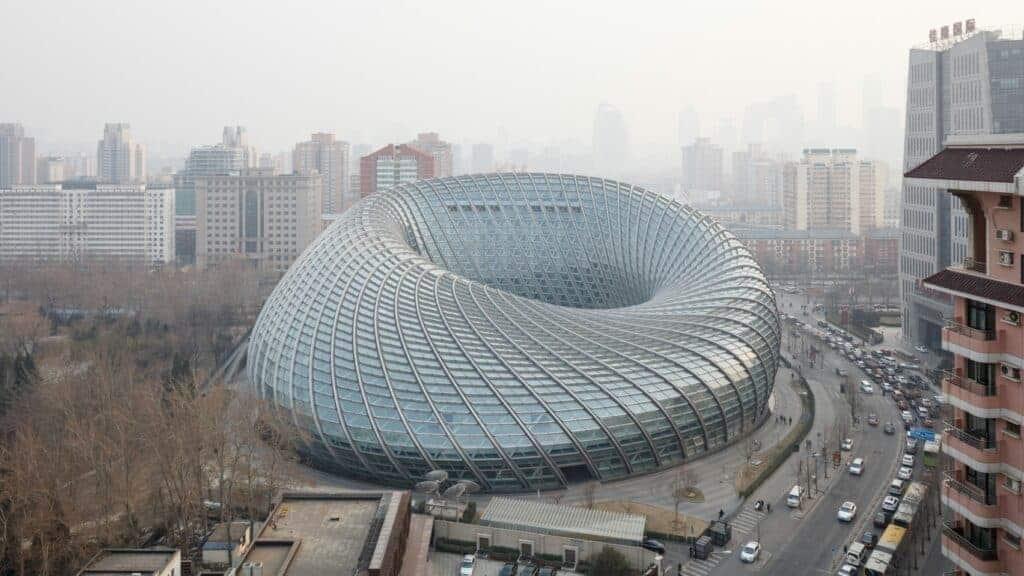 Phoenix International Media Center, Beijing. Blobitecture
