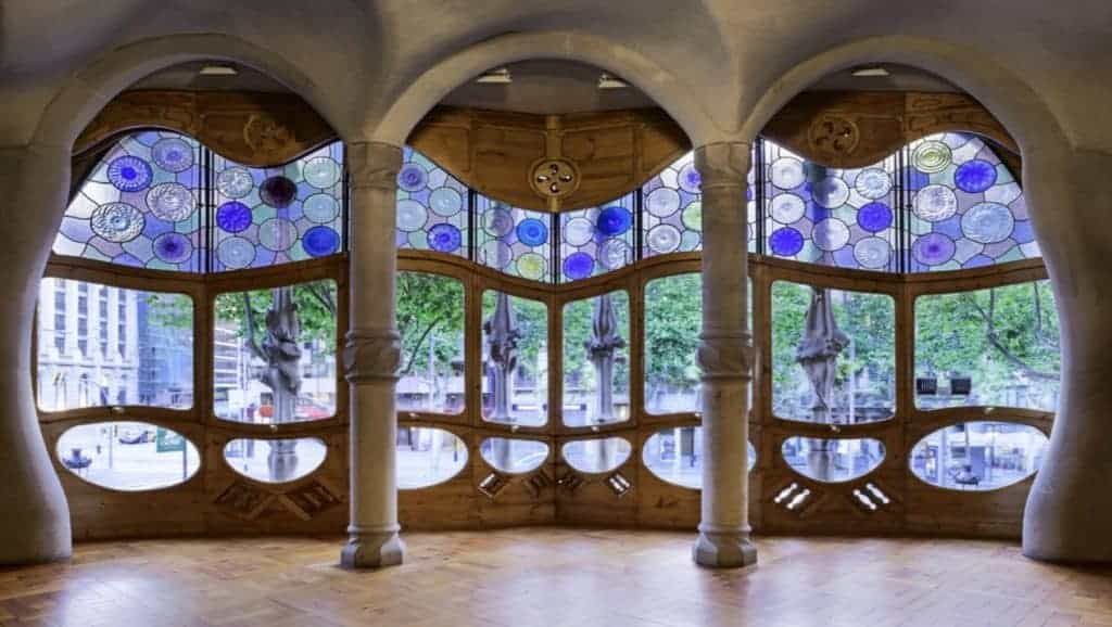 Interior of Gaudi's Casa Batlló, an architectural total work of art.