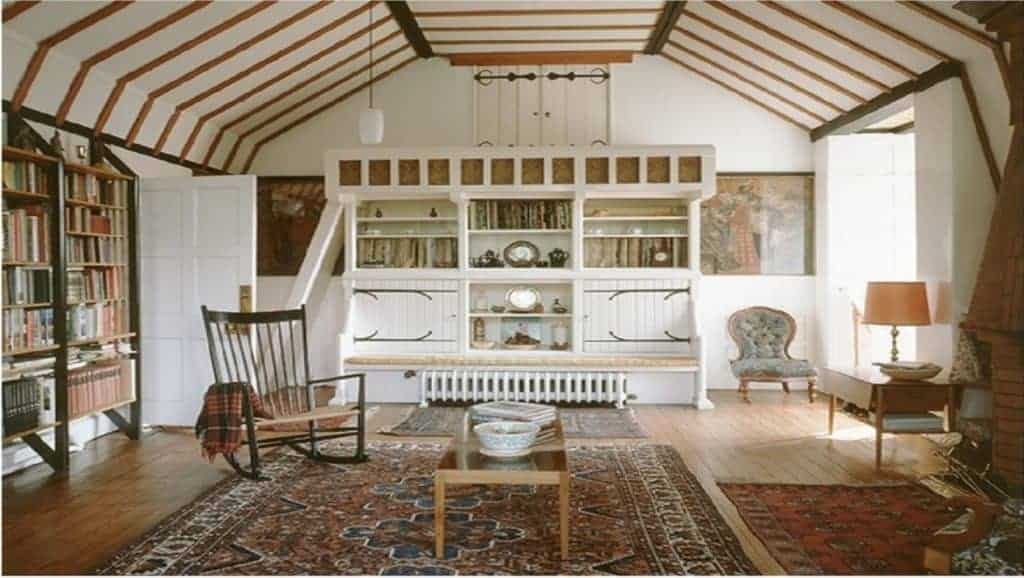Interior of William Morris and Philip Webb's Red House, drawing room.