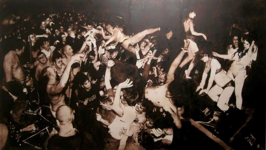 A punk crowd. Florian Süssmay - Untitled - 2008.