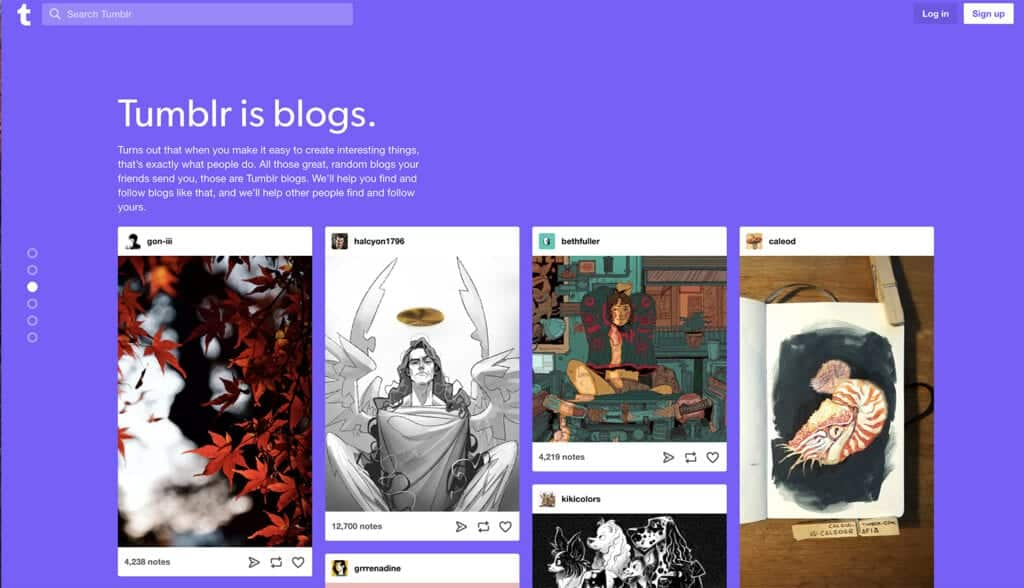 tumblr write blog with images