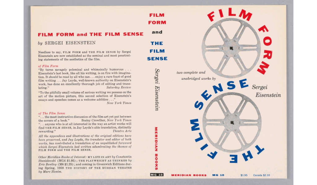 The cover of Sergei Eisenstein's book of essays on film theory: Film Form (1949)