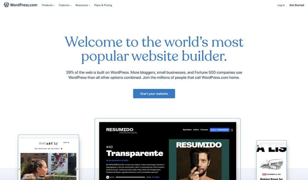 wordpress.com best free blog hosting