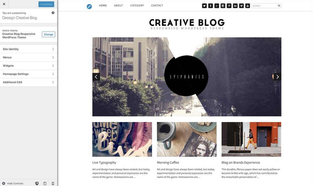 WordPress Customize Blog Theme