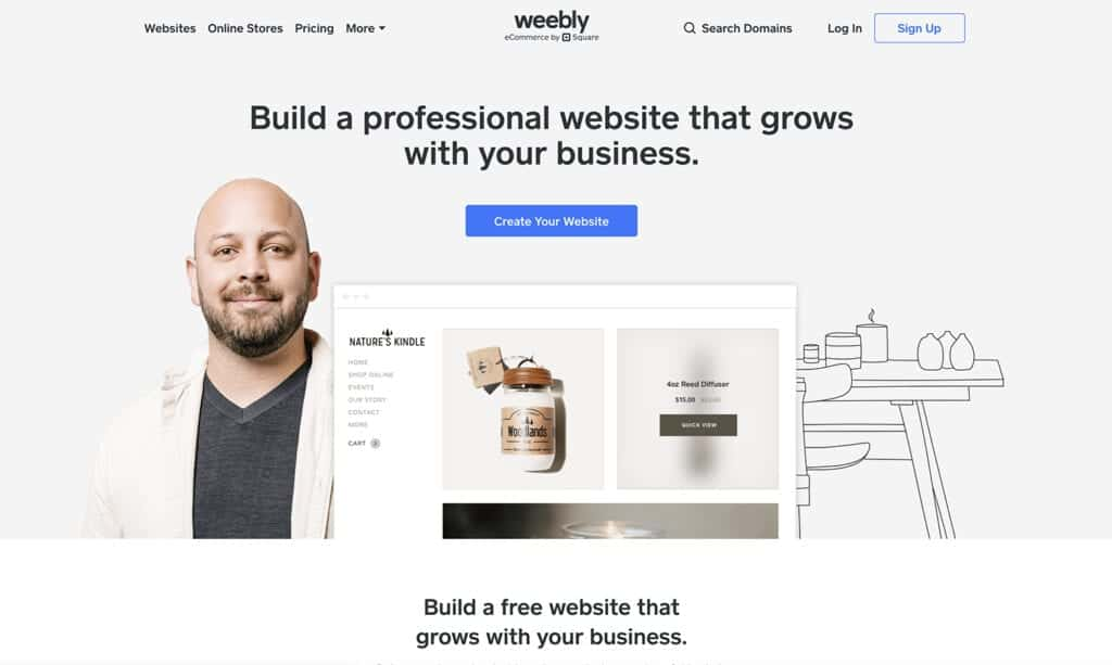weebly simple to build blog platform