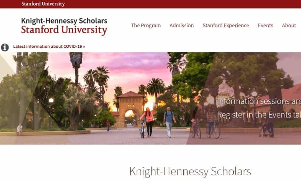 Knight-Hennessy Scholarship for Stanford USA fully funded