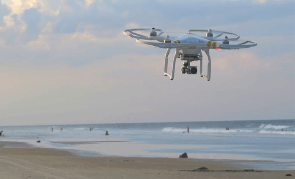 DJI Drone Over Water