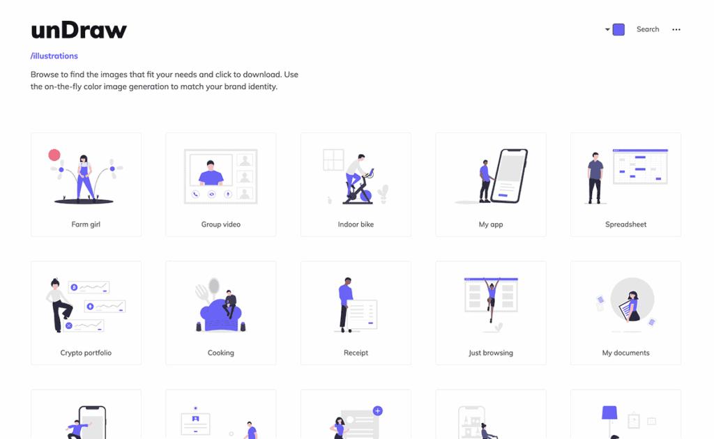 undraw free illustrations