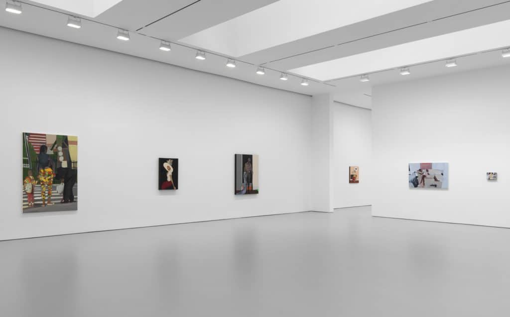 Installation view, Noah Davis, David Zwirner, New York
