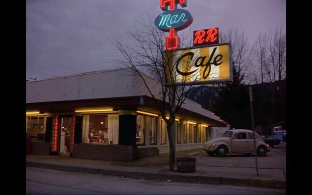 The Double R Diner, Twin Peaks. Still from Season 1 Pilot, Twin Peaks