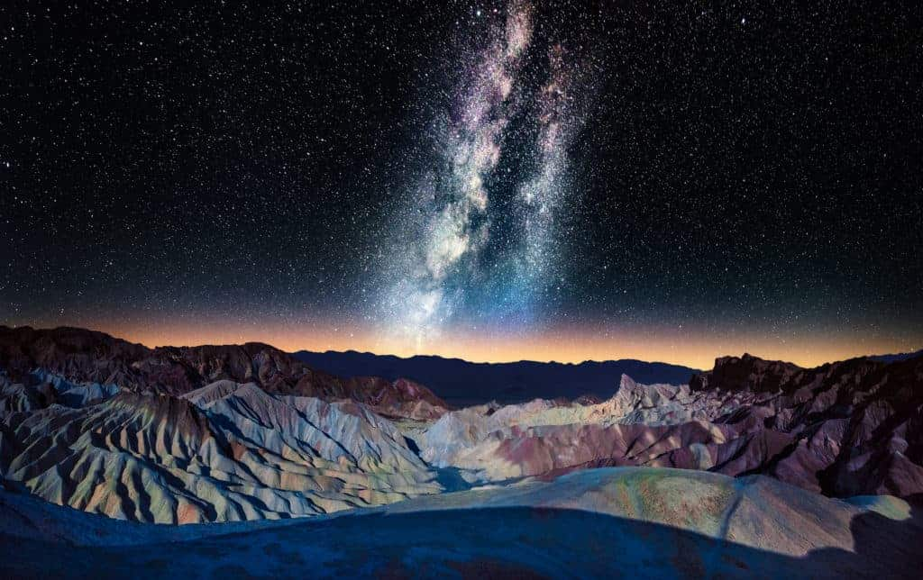 The Milky Way over Zabriskie Point, Death Valley.
