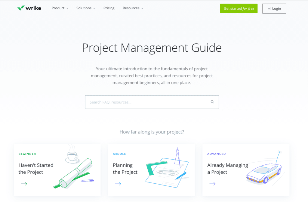 Screenshot of Wrike Project Management Guide