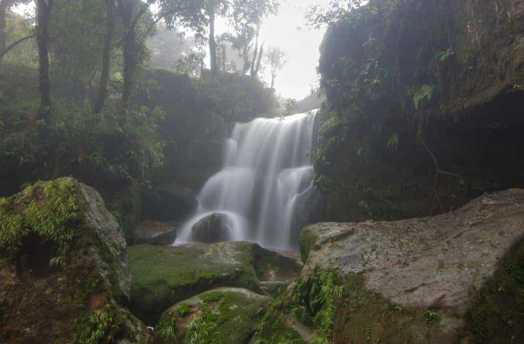 Garden of Caves waterfall Cherrapunjee