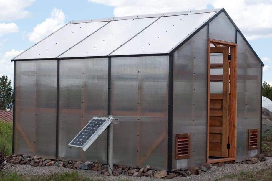greenhouse solar fan