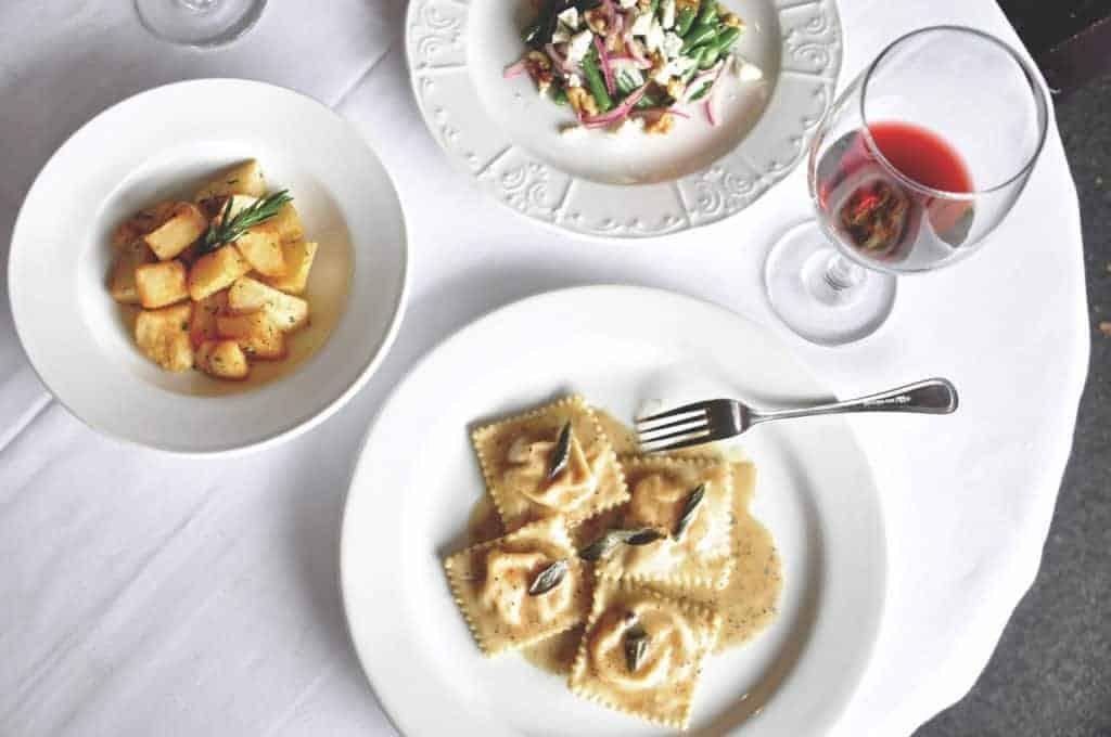 Three Course Meal with Wine at Andiamo Ristorante.